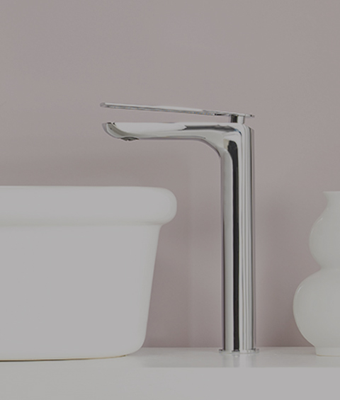 designer faucet and sink