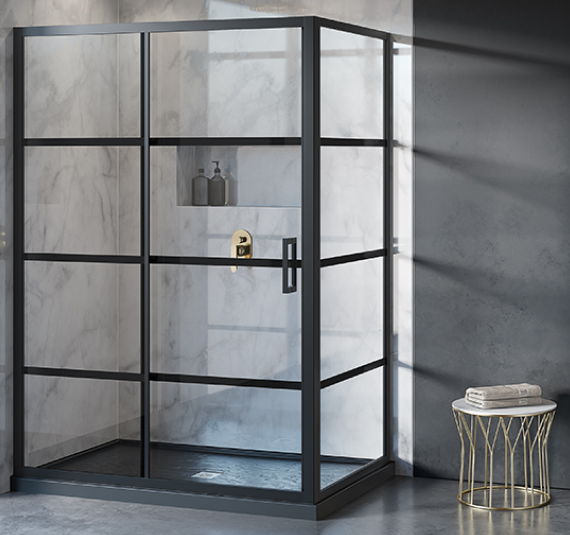 clean design shower by Wheatland