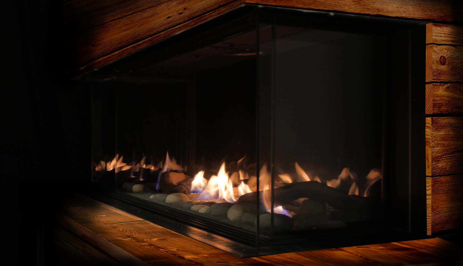 beautiful aesthetic fireplace